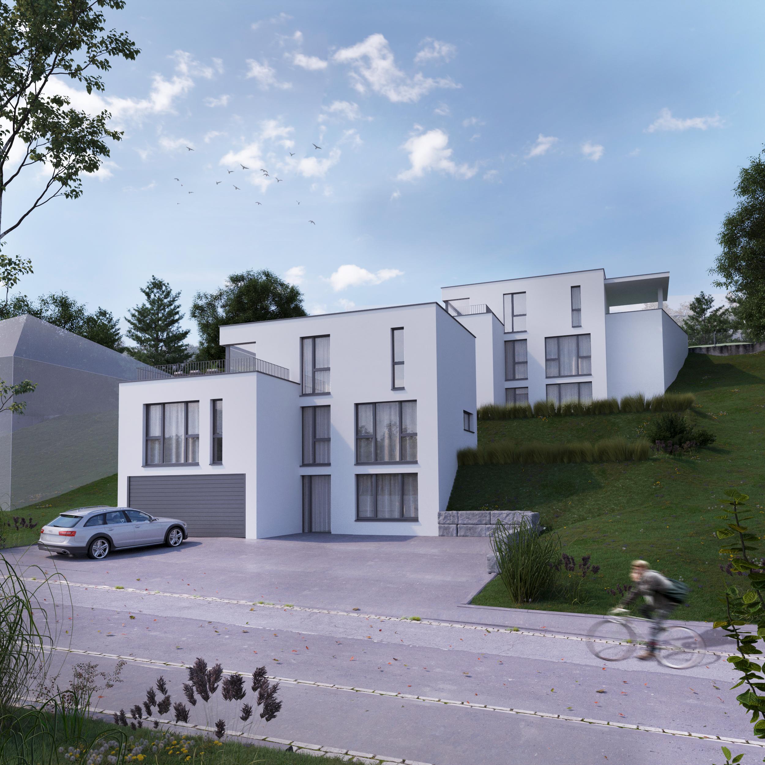 Freistehendes Neubauprojekt für die moderne Familie